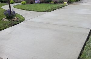 Concrete Paving and Flatwork in a residential location in Kent, laid by Kent Asphalt Paving